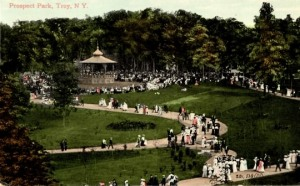 Prospect Park, Troy drew crowds to concerts at its Moorish bandstand in the early 1900's