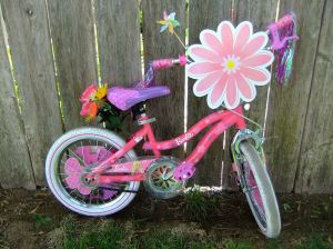 Bike with big flower